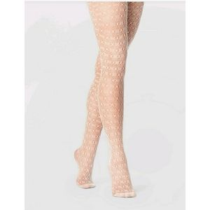 NWT White Crochet Tights